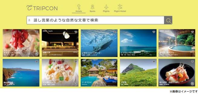 新たな検索手法で旅行比較するメタサーチが登場、自然文や住所からホテル・観光情報など絞り込み表示 -昭文社・子会社「トリプコン」