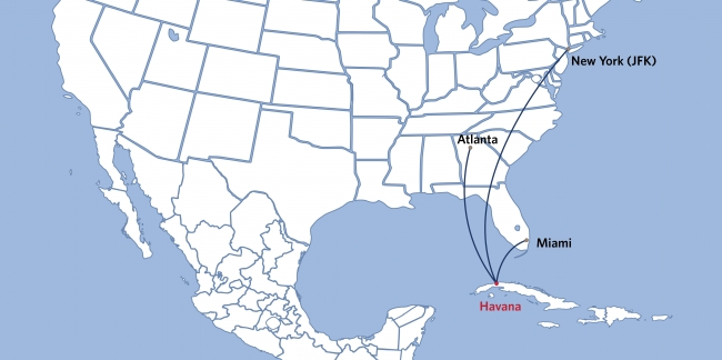 デルタ航空、米国からキューバ・ハバナへ定期直行便を運航へ、ニューヨークなど3都市から