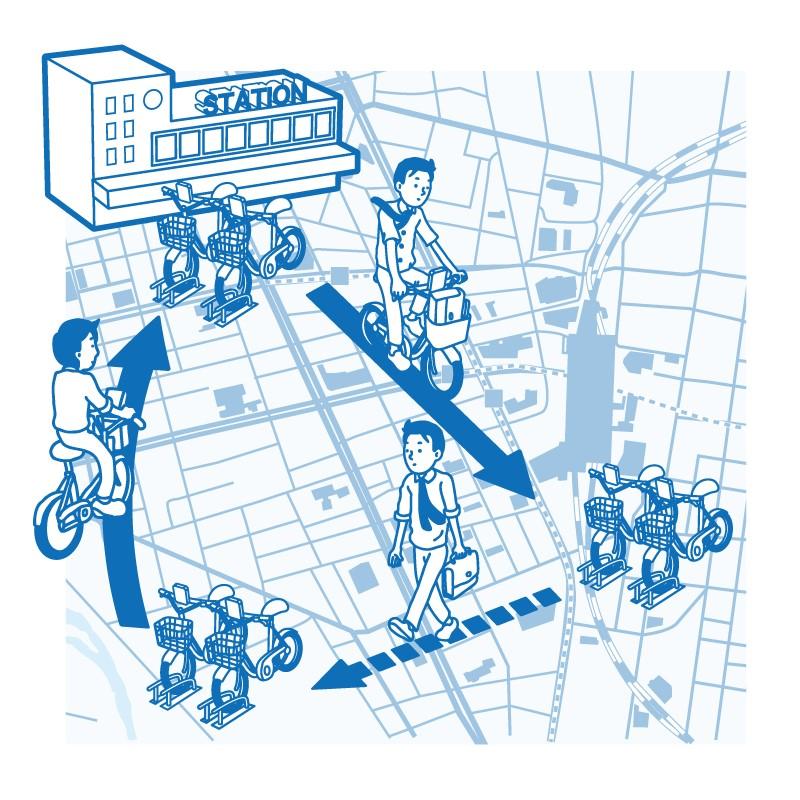 ドコモとKNTが旅行者向けレンタサイクルで提携、宿泊施設で外国人に1日利用パスを販売