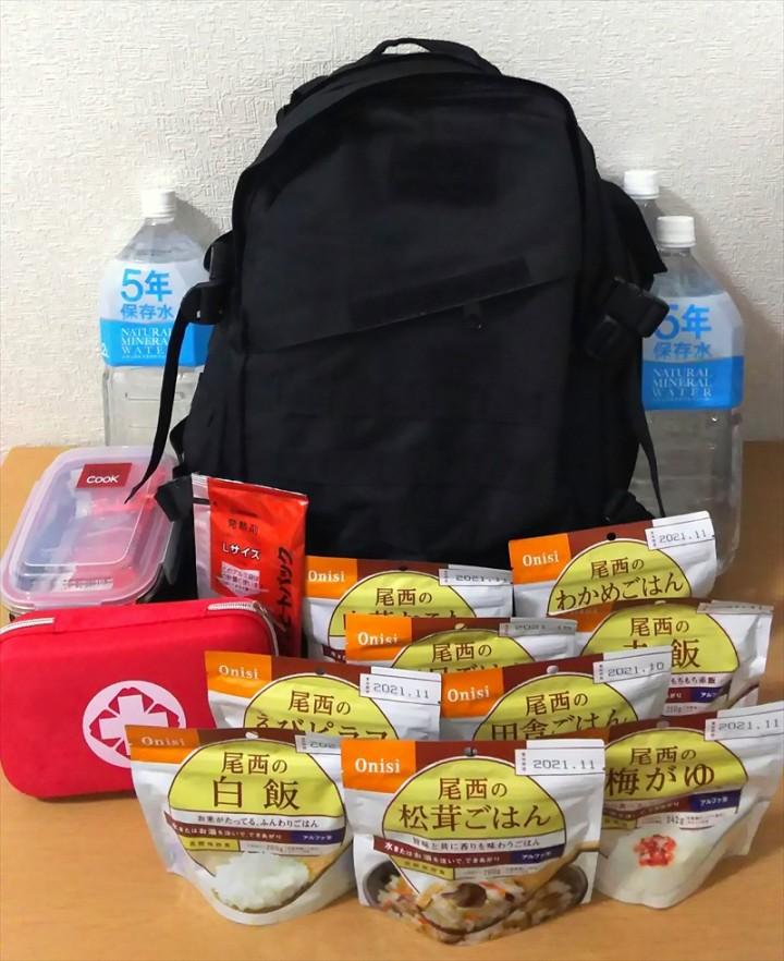 訪日外国人向けに防災備品レンタル、水や非常用食料などが入ったリュックを滞在先に配送