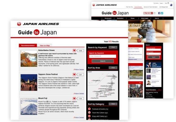 JAL、訪日情報サイトでスポット検索機能を導入、Youtubeにインバウンド用サイトも新設