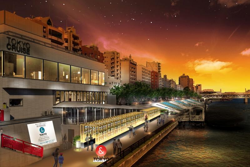 浅草・隅田川で「東京ブランド」発信イベント、畳敷きテラスやライトアップで「水の都」の魅力をアピール