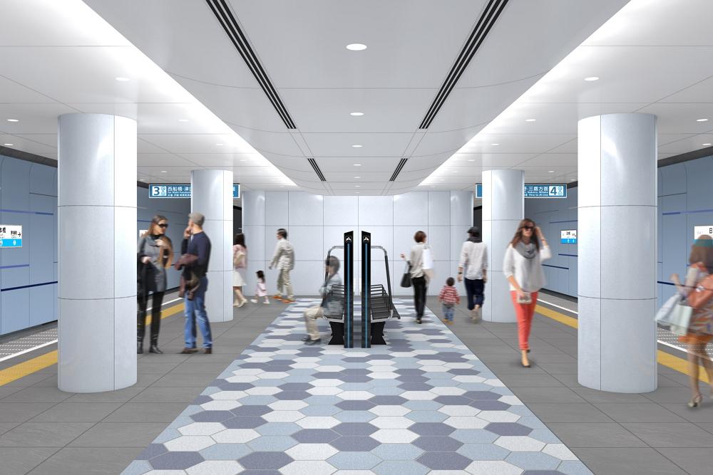 日本橋駅(東西線)のデザイン:東京メトロ提供