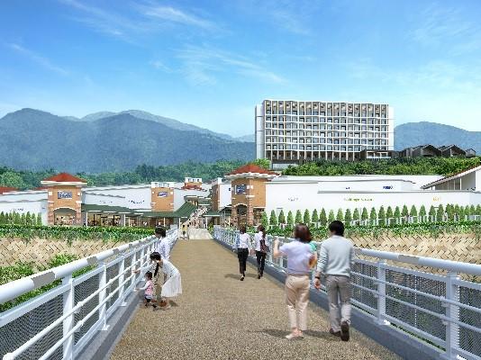 御殿場プレミアム・アウトレットを地域の観光ハブに、エリア拡大で宿泊・温泉施設を開業、約100店舗増加へ