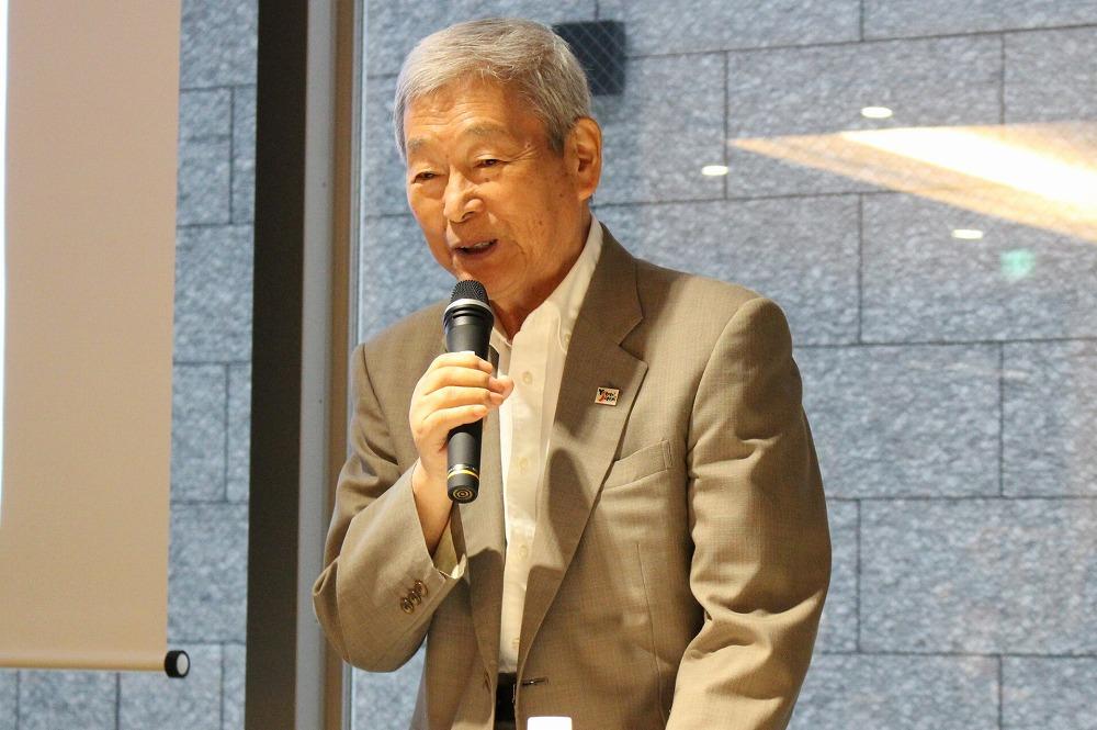 澤の屋旅館の館主・澤功氏。観光庁の観光カリスマ(下町の外国人もてなしカリスマ)や、日本政府観光局のVISIT JAPAN大使にも任命されている