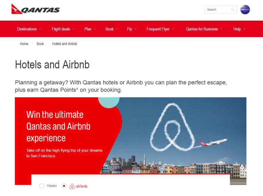 カンタス航空が民泊「Airbnb」と提携、航空会社では世界初、民泊予約でカンタス会員ポイント付与【動画】