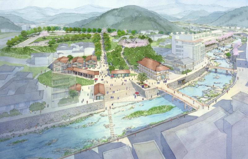 星野リゾートの山口県・長門湯本温泉の再生計画が策定、温泉ランクトップ10入りなど目標に一部施設は2019年開業へ
