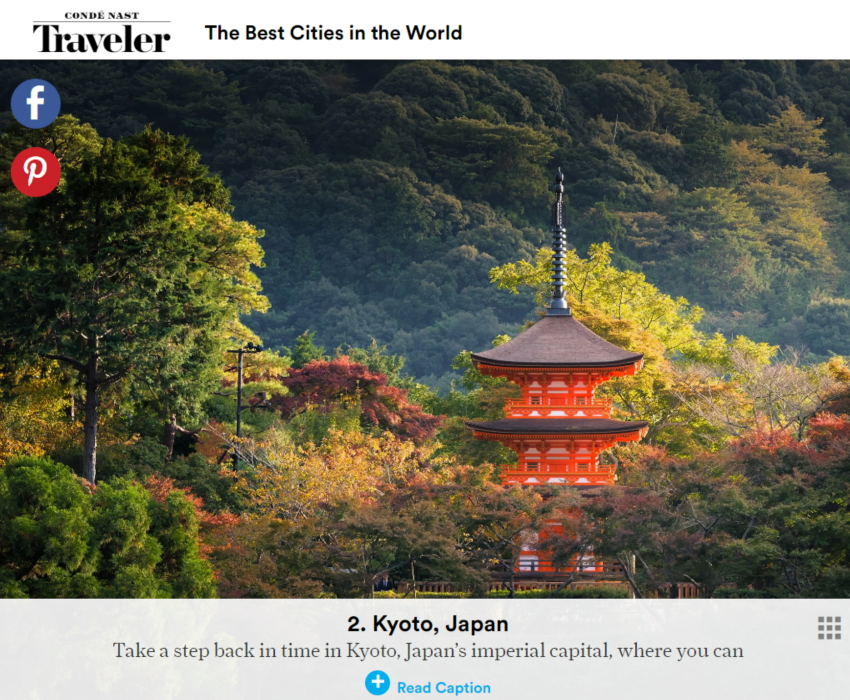 「The Best Cities in the World」ウェブサイトより