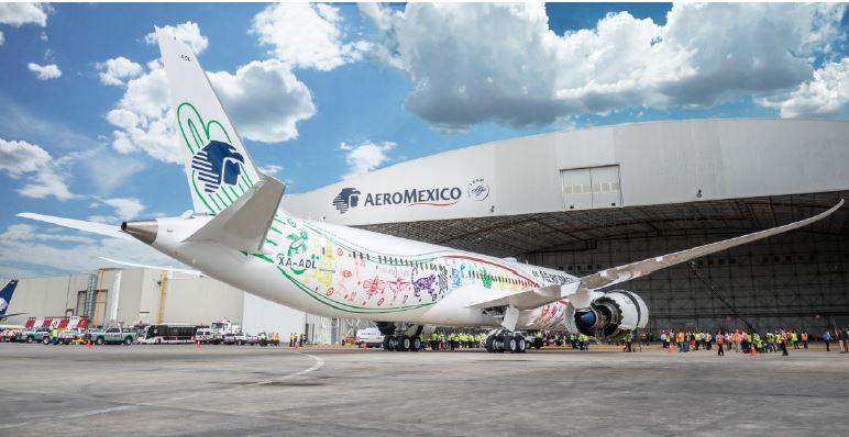アエロメヒコ航空、ボーイング787-9ドリームライナー初号機を公開、日本線にも投入へ