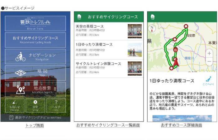 ナビタイム、レンタサイクル向けの多言語アプリ、音声ナビ搭載で観光スポットなどタビナカ情報も