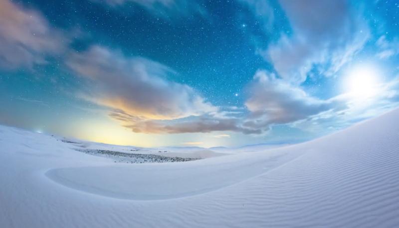 次の絶景ブームを予感させる動画、アメリカのダイナミックな白い砂丘をBBC  Earthが撮影【旅に出たくなる動画シリーズ】