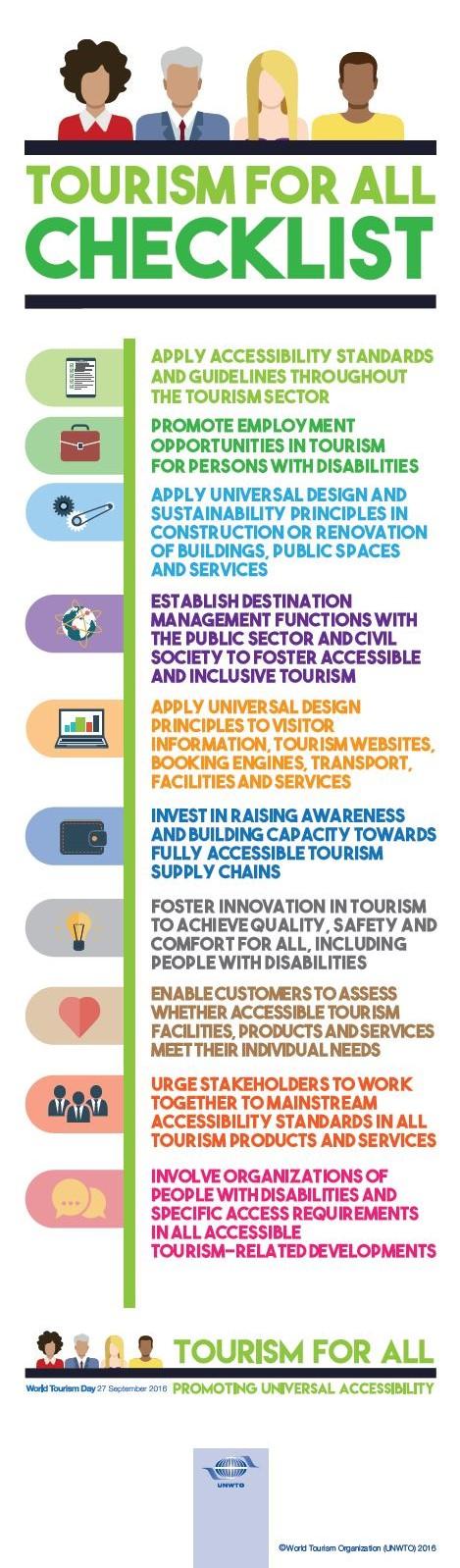 「アクセシブル・ツーリズム」チェックリスト(UNWTO)