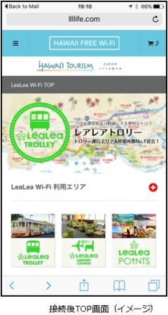 HIS、ハワイで無料Wi-Fiサービス開始、広告視聴で1時間、アプリダウンロードで1週間利用可能に