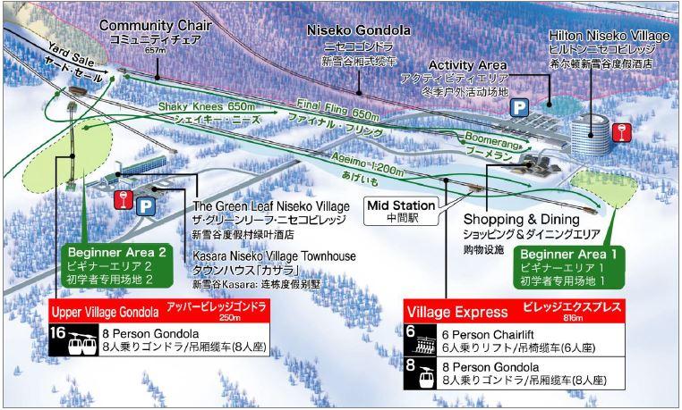 北海道ニセコにスキー初心者向け新コース開設、山麓エリアにはスキー装着のまま利用できる歩道も