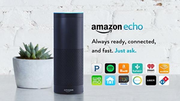 専用スマートスピーカー「Amazon echo」:Amazon より
