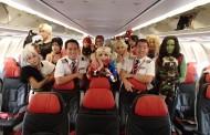 LCCエアアジア、飛行中の機内でコスプレの特別フライト実施、搭乗客のダンスコンテストも 【動画】