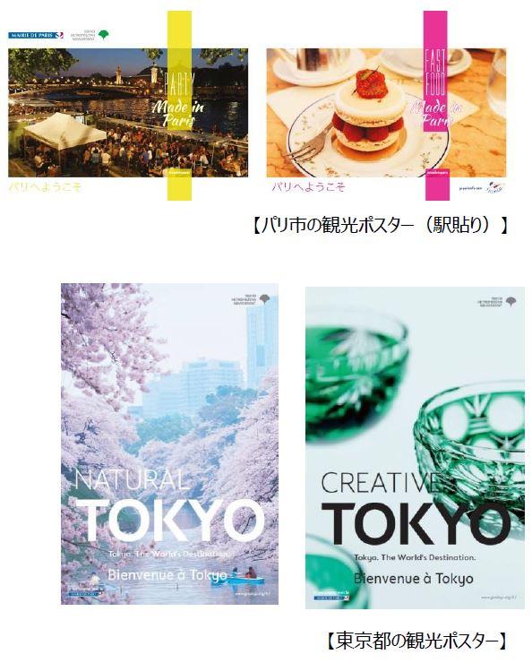 東京都とパリ市が相互に観光ピーアールへ、年末年始に交通広告やSNSで
