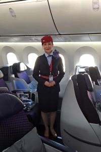 AM57便には日本人通訳1名が乗務している