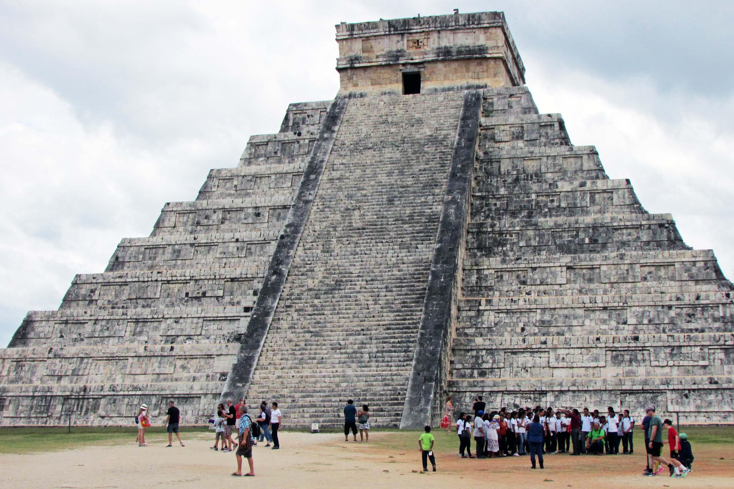 世界遺産に登録された、チチェン・イッツァのピラミッド