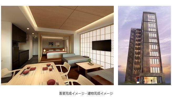 コスモスイニシアがホテル事業に本格参入、都市部で8棟のプロジェクト用地を取得、1室40平米中心のアパートメントホテルなどで