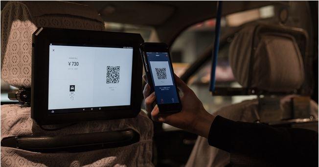 タクシー支払いでスマホ化すすむ、日本交通が日本の「Origami Pay」、中国の「Alipay」「WeChatPay」利用可能に