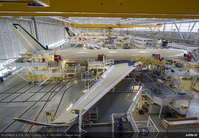写真でみる航空機「A350‐900型機」の組み立て工程、デルタ航空が公開、2017年秋から導入へ