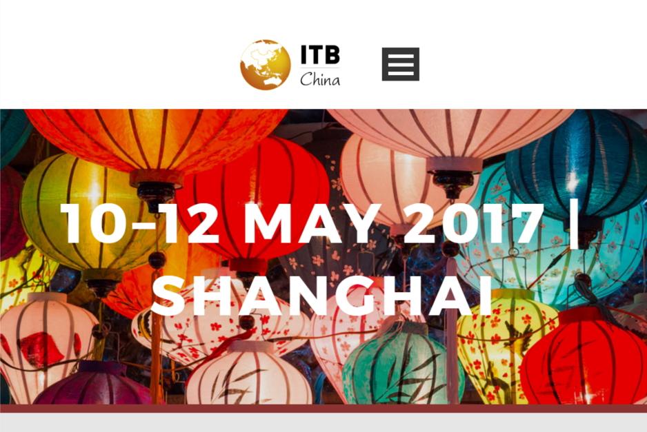 中国市場に特化した旅行・観光産業の展示会・国際会議「ITBチャイナ」開催へ、5月10日から上海で3日間(PR)