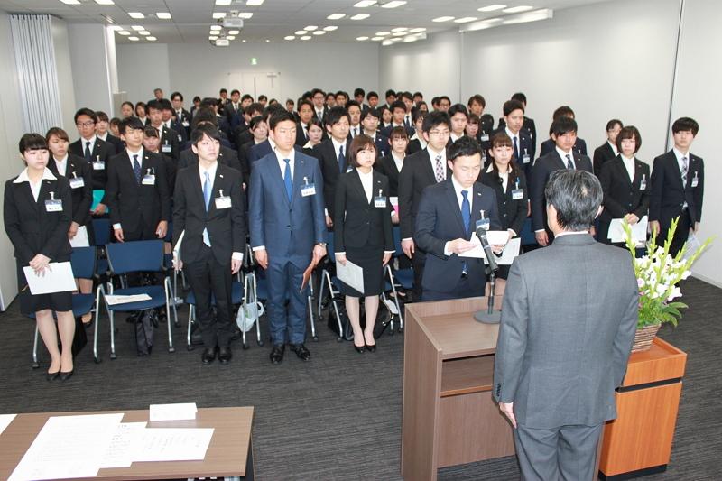 日本旅行の入社式2017、堀坂代表「若い感性と柔軟な発想で将来を」、新卒採用は88名