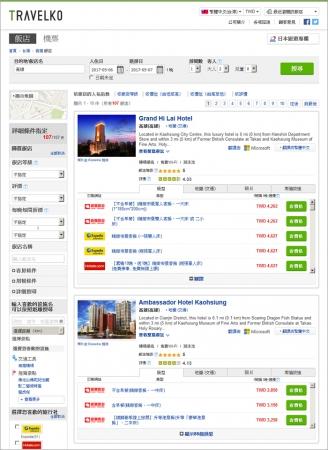 旅行比較サイト「トラベルコ」、台湾の最大手旅行会社と連携、台湾の2200ホテルを繁体字版に追加