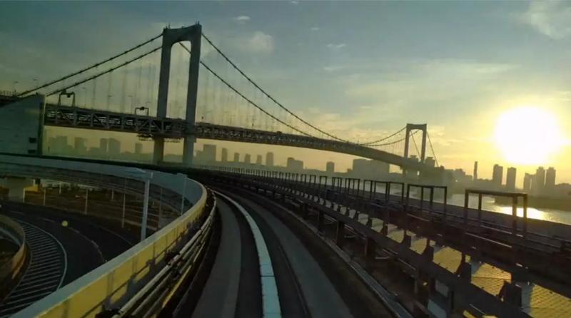 外国人にも人気の「ゆりかもめ」車窓を早回し動画で、早朝の豊洲から新橋が別次元の観光素材に【旅に出たくなる動画シリーズ】