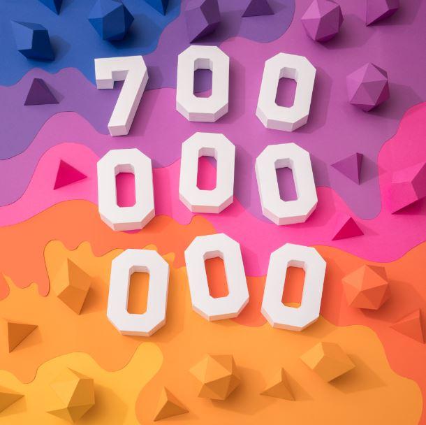 写真・動画アプリ「インスタグラム」を月に1回以上使うユーザーが7億人を突破、2年で倍増
