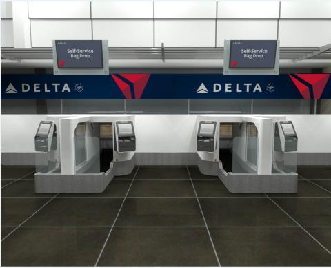デルタ航空、顔認証で荷物を自分で預けるチェックイン機を試験導入、米ミネアポリス空港で