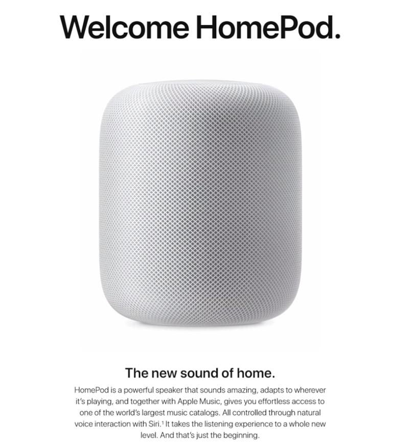 米アップル、AI搭載・音声アシスト機能付きスピーカー「ホームポッド」発売、12月から約350ドルで