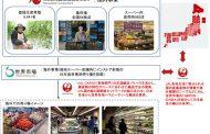 JAL、農産物の輸出で地方支援、生産者からの集荷から現地スーパーでの販売まで