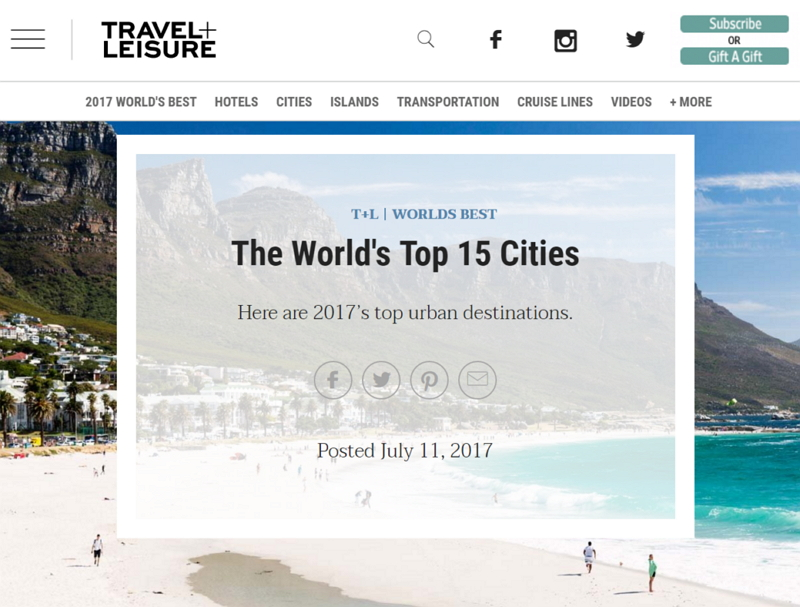 米・旅行有力誌による世界の観光都市ランキング2017、京都は4位 ...