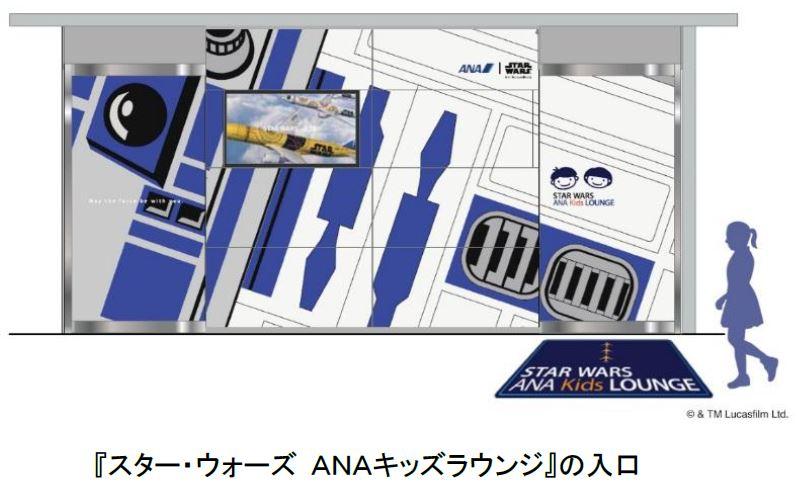 ANA、羽田空港に子供向けラウンジ、「スター・ウォーズ」仕様で