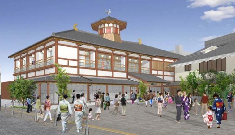 愛媛・道後温泉に別館「飛鳥乃温泉」が開業、本館にない露天風呂や浴衣入浴を可能に