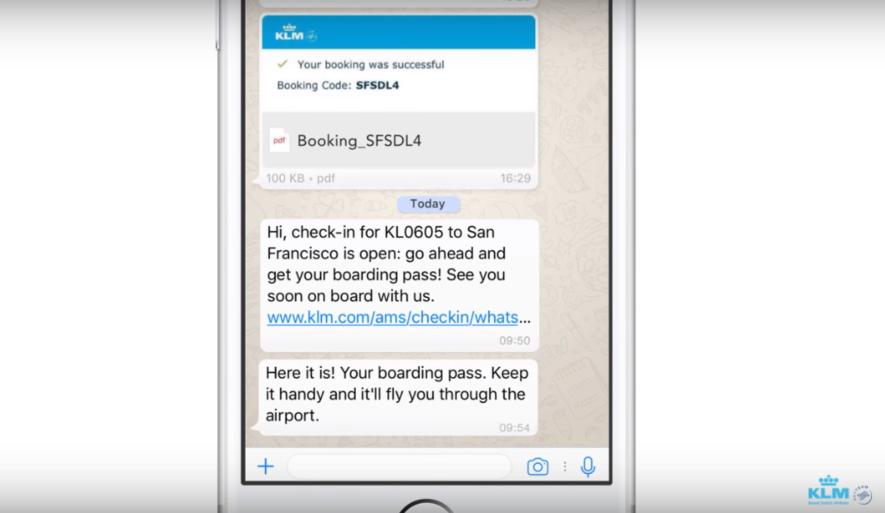 KLMオランダ航空、メッセージアプリ「WhatsApp」に対応開始、チェックインやフライト情報提供を可能に【動画】