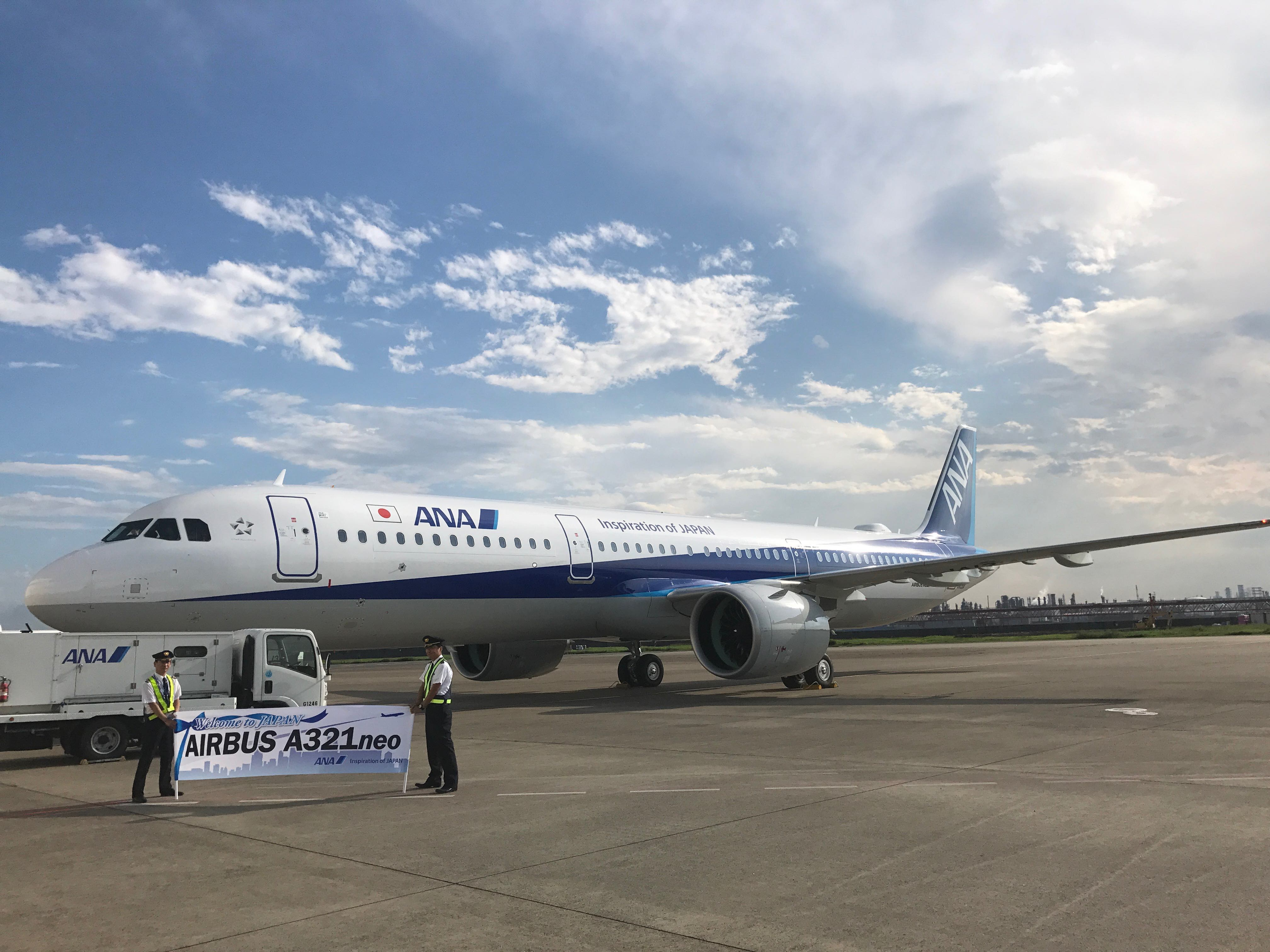 写真でみるANAの新旅客機「A321neo」、全席モニター装備で国内線仕様、日本初導入の羽田到着便を取材した【画像】