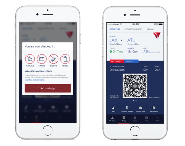 デルタ航空、スマホアプリで自動チェックイン開始、座席変更やアップグレードにも対応