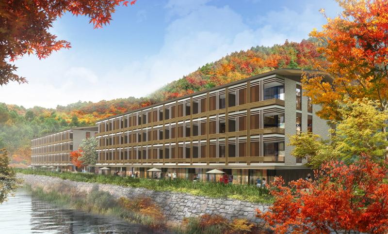 箱根・強羅に、インターコンチネンタル系の日本初上陸ホテルブランド「インディゴ」が開業へ、全室温泉風呂付きの全100室