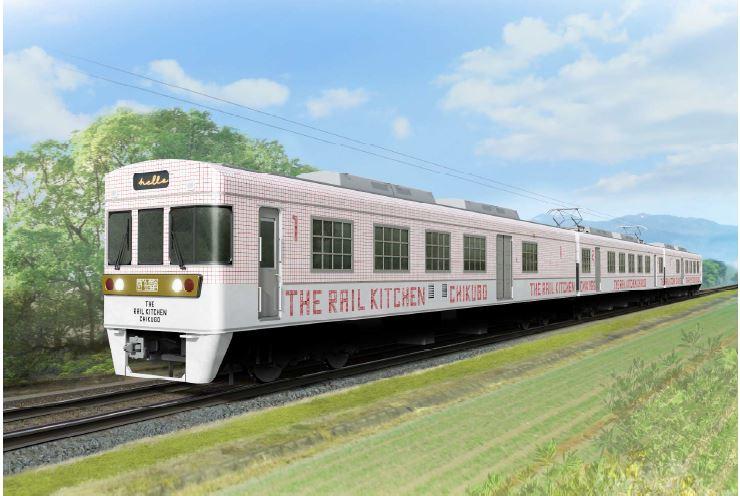 九州に新たな観光列車、列車内に本格窯でこだわり調理を提供、西鉄が福岡/大牟田間に【画像】