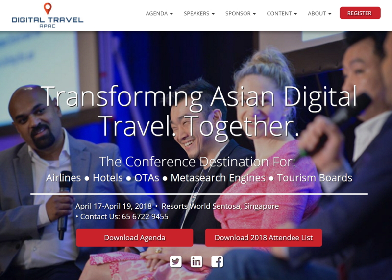 デジタル旅行業界の国際会議「トラベルデジタルAPAC」、今年もシンガポールで開催、4月17日から3日間(PR)