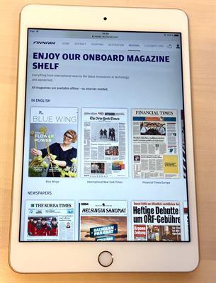 フィンランド航空、長距離路線で紙の新聞配布を終了、デジタル版に移行で世界各国50以上の新聞を閲覧可能に