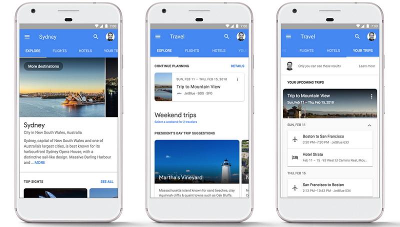 グーグル、スマホでの航空券やホテル比較・予約の使い勝手を改良、小さな画面上で操作性や導線を向上