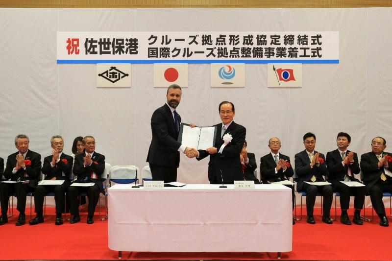 長崎県佐世保市と世界大手クルーズ会社が戦略的提携、新港への安定的な寄港へ、客船寄港で優先権