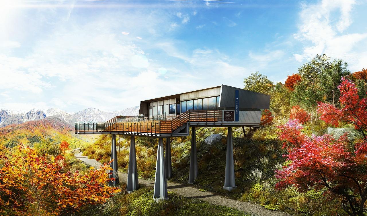 長野県白馬の夏秋を楽しむ新施設、「空中自転車綱渡り」や「三段紅葉を一望する展望テラス」など、日本初進出の本格アクティビティも