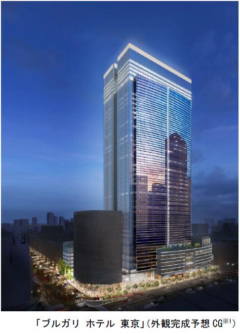 高級ブランド「ブルガリ」のホテルが東京に開業へ、三井不動産と2022年開業で合意、複合ビルの上層階に全98室