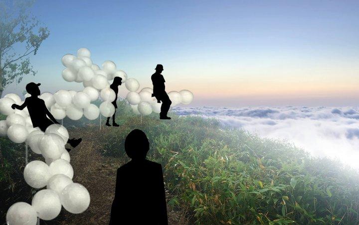 星野リゾート、北海道トマム「雲海テラス」に新展望スポット、浮かぶように座るバーや雲粒のようなベット【画像】