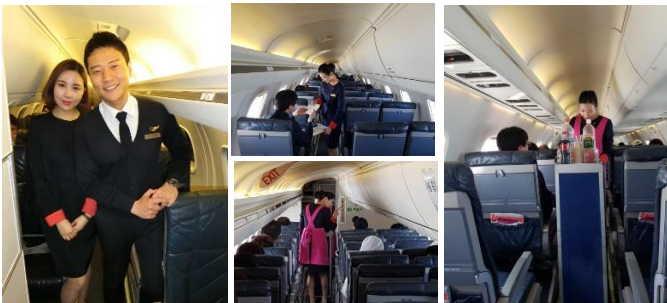 飛行中のチャーター機内で「客室乗務員」体験を、韓国航空会社が学生向けプログラムを提供